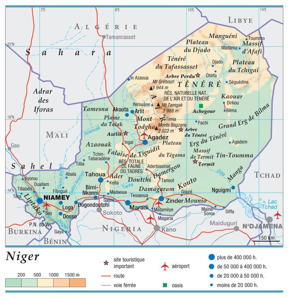 Carte Algerie Niger.Decouvrir Le Niger